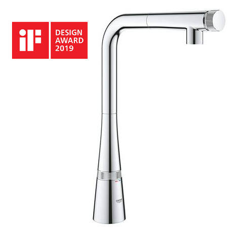 Grohe Zedra Smartcontrol Kitchen Sink Mixer with Pull Out Spray - 31593002