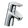 hansgrohe Focus Single Lever Basin Mixer 70 with Push-open Waste - 31604000 profile small image view 1