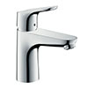 hansgrohe Focus Single Lever Basin Mixer 100 with Pop-up Waste - 31607000 profile small image view 1