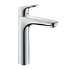 hansgrohe Focus Single Lever Basin Mixer 190 with Pop-up Waste - 31608000 profile small image view 1