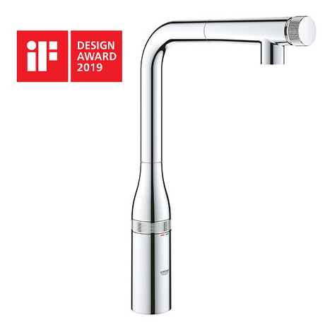 Grohe Essence Smartcontrol Kitchen Sink Mixer with Pull Out Spray - 31615000