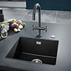 Grohe K700 1.0 Bowl Undermount Composite Quartz Kitchen Sink - Black - 31653AP0 profile small image view 1