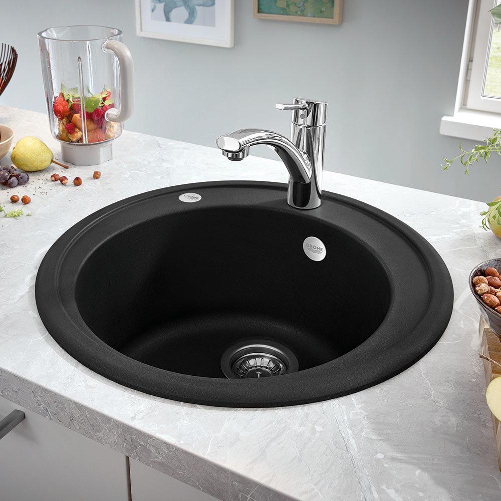 Grohe K200 1.0 Bowl Round Composite Quartz Kitchen Sink | Black Kitchen Sinks: The Next Big Kitchen Trend?