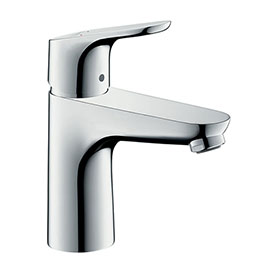 hansgrohe Focus Single Lever Basin Mixer 100 with 2 Flow Rates and Pop-up Waste - 31657000