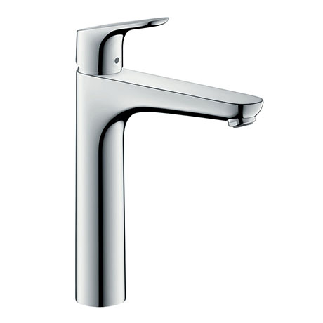 hansgrohe Focus Single Lever Basin Mixer 190 with 2 Flow Rates and Pop-up Waste - 31658000