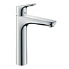 hansgrohe Focus Single Lever Basin Mixer 190 with 2 Flow Rates and Pop-up Waste - 31658000 profile small image view 1