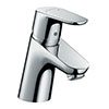 hansgrohe Focus Single Lever Basin Mixer 70 without Waste - 31733000 profile small image view 1