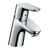 hansgrohe Focus Single Lever Basin Mixer 70 with Chain Waste - 31732000 profile small image view 1