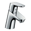 hansgrohe Focus Single Lever Basin Mixer 70 with 2 Flow Rates and Pop-up Waste - 31738000 profile small image view 1