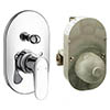 hansgrohe Ecos Concealed Bath Shower Mixer Set - 31779000 profile small image view 1