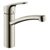 hansgrohe Focus M41 Single Lever Kitchen Mixer 160 - Stainless Steel - 31806800 profile small image view 1