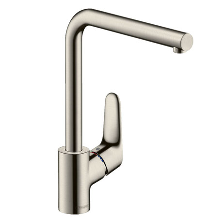 hansgrohe Focus M41 Single Lever Kitchen Mixer 280 - Stainless Steel - 31817800