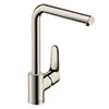 hansgrohe Focus M41 Single Lever Kitchen Mixer 280 - Stainless Steel - 31817800 profile small image view 1