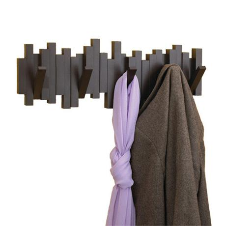 Umbra Sticks 5 Hook Wall-Mount Hook Rack - Espresso - 318211-213