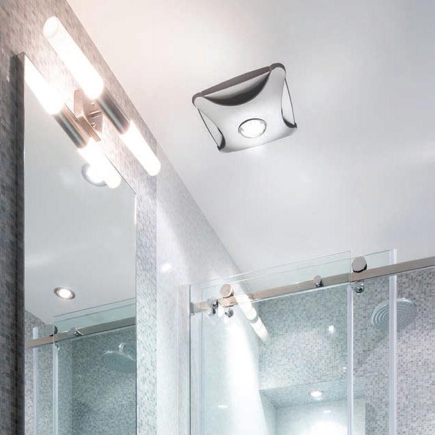 HIB Air-Star Bathroom Ceiling Fan with LED Lights - White - 31900 profile large image view 2