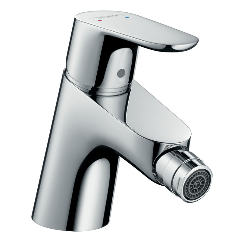 hansgrohe Focus Single Lever Bidet Mixer with Push-open Waste - 31922000