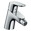 hansgrohe Focus Single Lever Bidet Mixer with Push-open Waste - 31922000 profile small image view 1