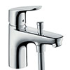 hansgrohe Focus Monotrou Single Lever Bath Shower Mixer - 31930000 profile small image view 1