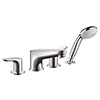 hansgrohe Focus 4-hole Deck Mounted Bath Mixer - 31936000 profile small image view 1