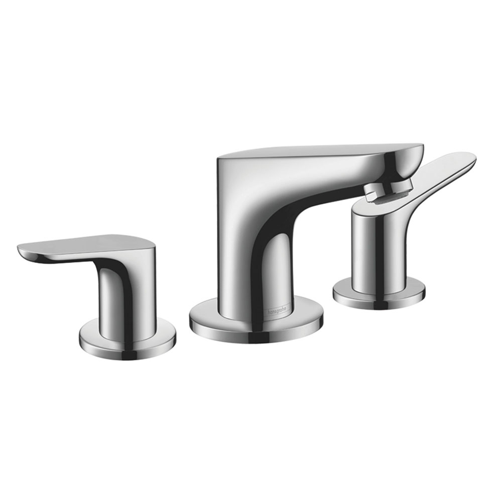 hansgrohe Focus 3-Hole Basin Mixer 100 with Pop-up Waste - 31937000