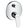 hansgrohe Focus Concealed Single Lever Manual Bath Mixer - 31945000 profile small image view 1