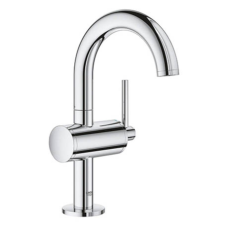 Grohe Atrio Single Lever M-Size Mono Basin Mixer with Click Clack Waste - Chrome - 32043003