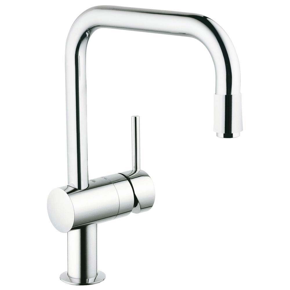 Grohe Minta Kitchen Sink Mixer with Pull Out Spray - Chrome - 32067000 Large Image