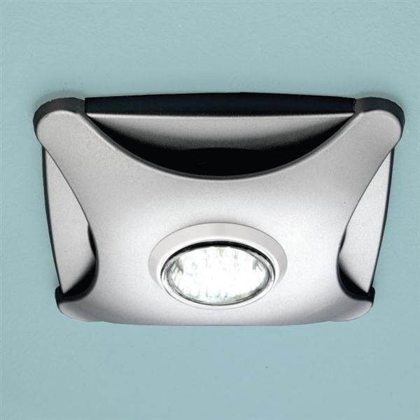 HIB Air-Star Bathroom Ceiling Fan with LED Lights - Matt Silver - 32100 Large Image