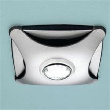 HIB Air-Star Bathroom Ceiling Fan with LED Lights - Matt Silver - 32100 Medium Image