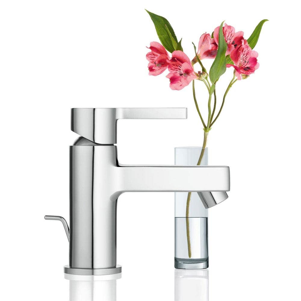 Grohe Lineare Mini Mono Basin Mixer with Pop-up Waste - 32109000  Profile Large Image