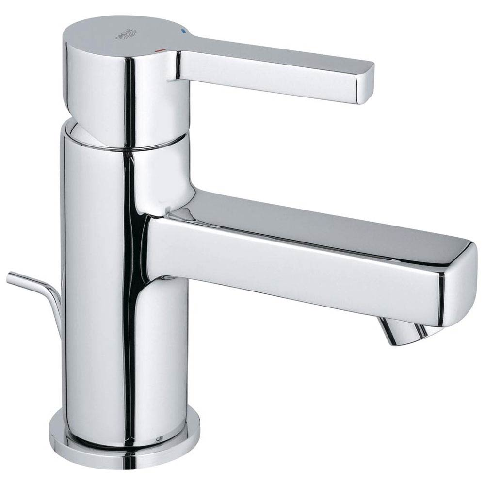 Grohe Lineare Mini Mono Basin Mixer with Pop-up Waste - 32109000 Large Image