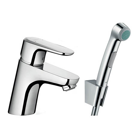 Hansgrohe Ecos Single Lever Basin Mixer with Bidette Hand Shower - 32126000