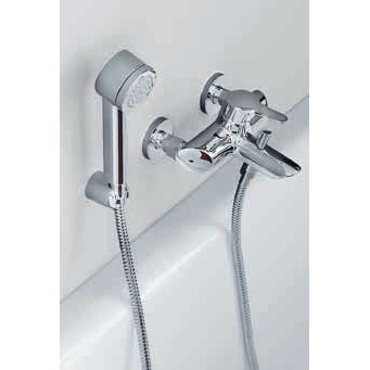 Laufen - Twin Pro Wall Mounted Bath Shower Mixer with Kit Profile Large Image
