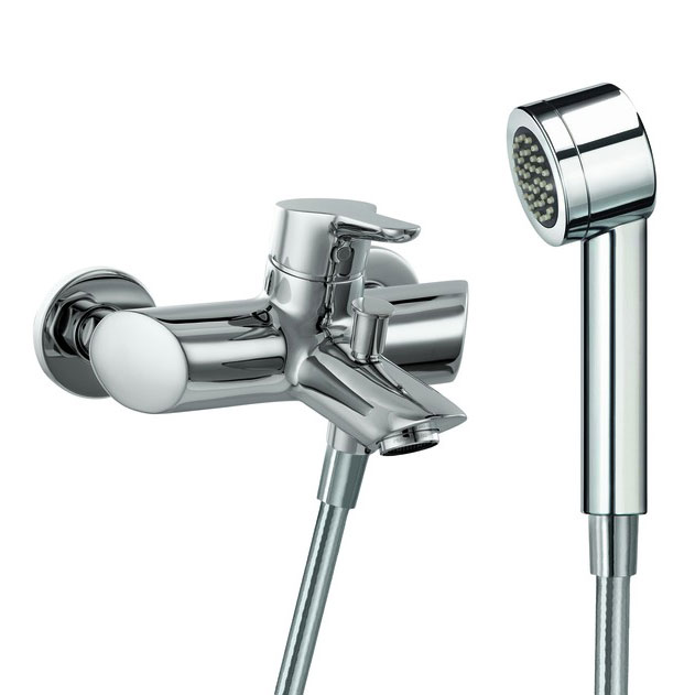 Laufen - Twin Pro Wall Mounted Bath Shower Mixer with Kit Large Image