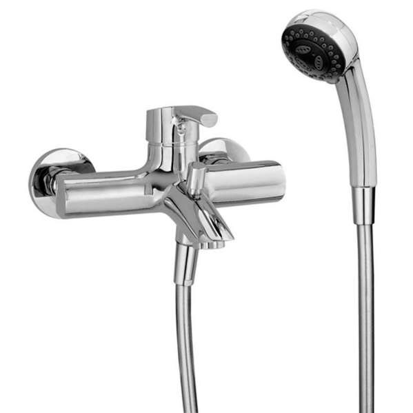 Laufen - Curve Pro Wall Mounted Bath Shower Mixer Large Image