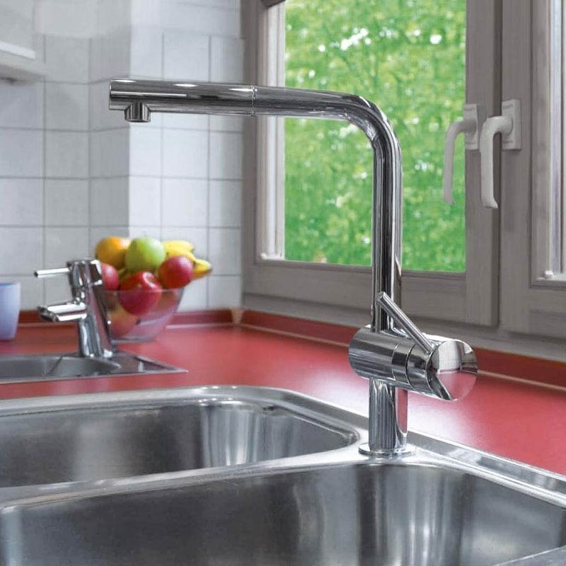 Grohe Minta Kitchen Sink Mixer with Pull Out Spray - Chrome - 32168000  Profile Large Image