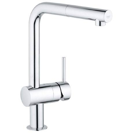 Grohe Minta Kitchen Sink Mixer with Pull Out Spray - Chrome - 32168000