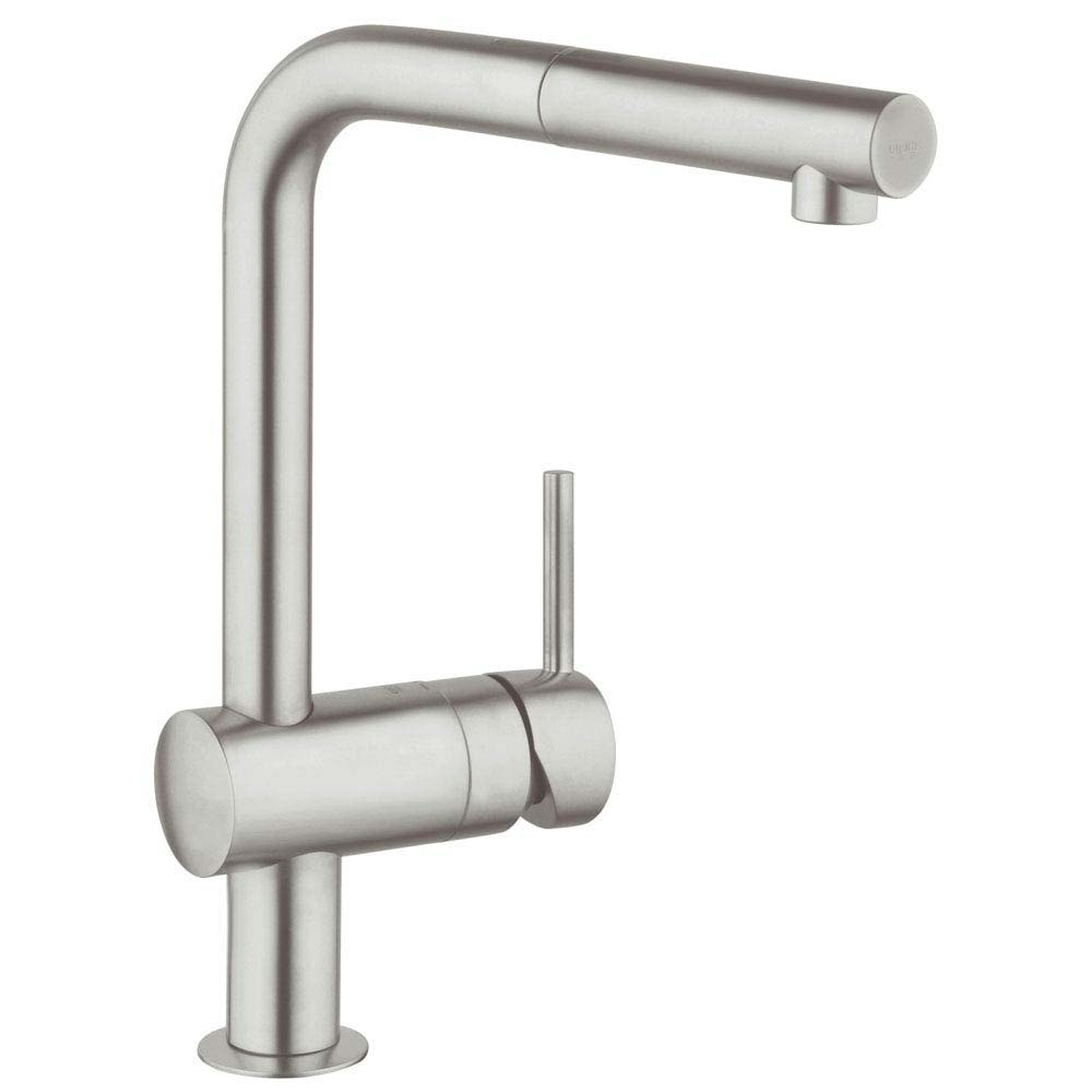 Grohe Minta Kitchen Sink Mixer with Pull Out Spray - SuperSteel - 32168DC0 Large Image