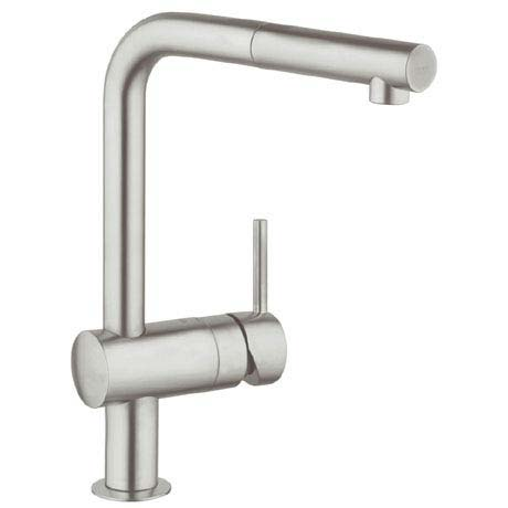 Grohe Minta Kitchen Sink Mixer with Pull Out Spray - SuperSteel - 32168DC0