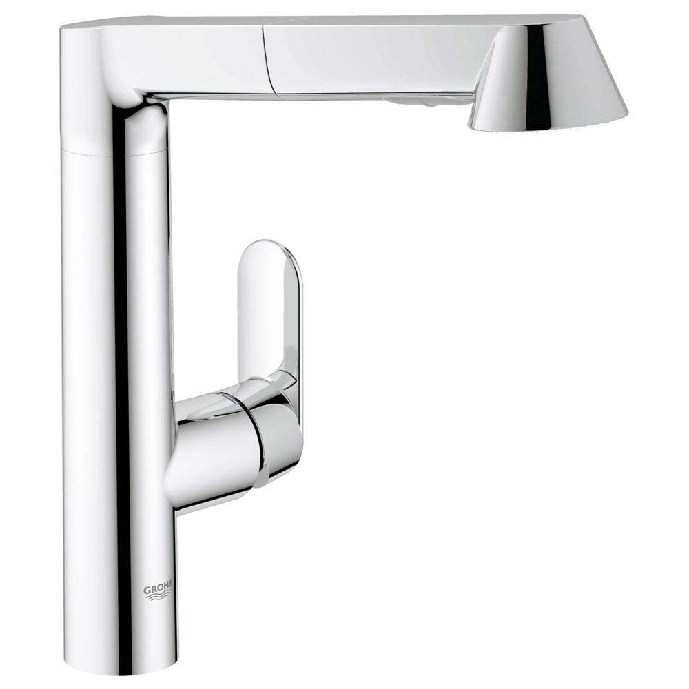 Grohe K7 Kitchen Sink Mixer with Pull Out Spray - Chrome - 32176000 Large Image