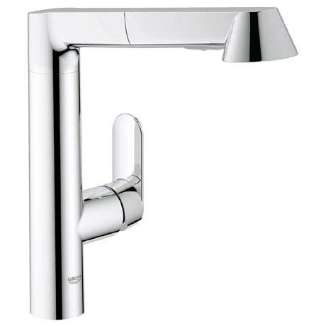 Grohe K7 Kitchen Sink Mixer with Pull Out Spray - Chrome - 32176000