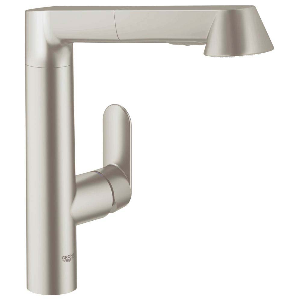 Grohe K7 Kitchen Sink Mixer with Pull Out Spray - SuperSteel - 32176DC0