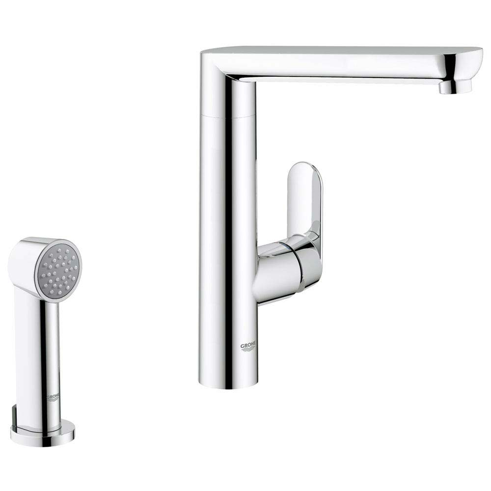 Grohe K7 Kitchen Sink Mixer with Side Spray - Chrome - 32179000 Large Image