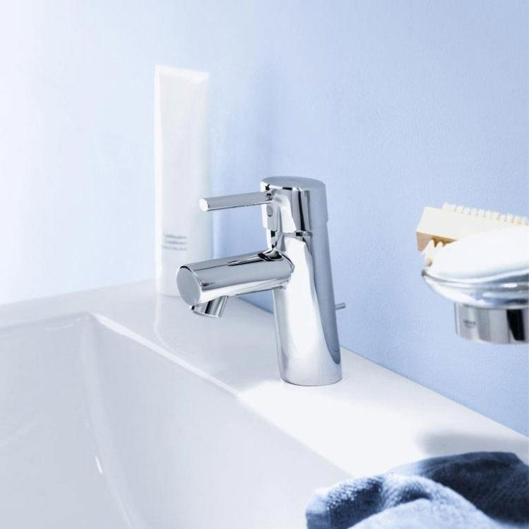 Grohe Concetto Mono Basin Mixer with Pop-up Waste - 3220210L profile large image view 4