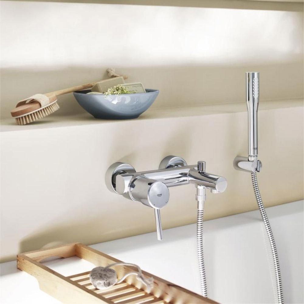 Grohe Concetto Wall Mounted Bath Shower Mixer and Kit - 32212001 Profile Large Image