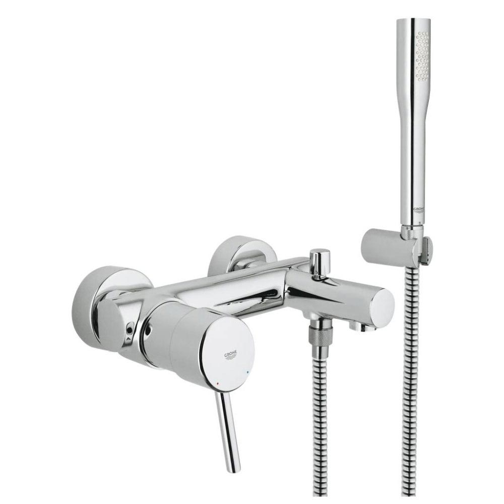 Grohe Concetto Wall Mounted Bath Shower Mixer and Kit - 32212001 Large Image