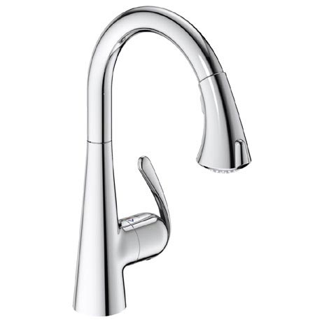 Grohe Zedra Kitchen Sink Mixer with Pull Out Spray - Chrome - 32294001