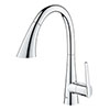 Grohe Zedra Kitchen Sink Mixer with Pull Out Spray - 32294002 profile small image view 1