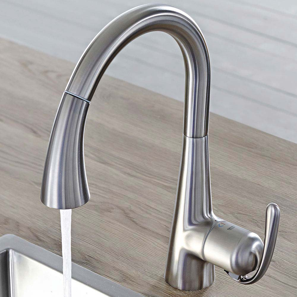 Grohe Zedra Kitchen Sink Mixer with Pull Out Spray - Stainless Steel - 32294SD1 profile large image view 2