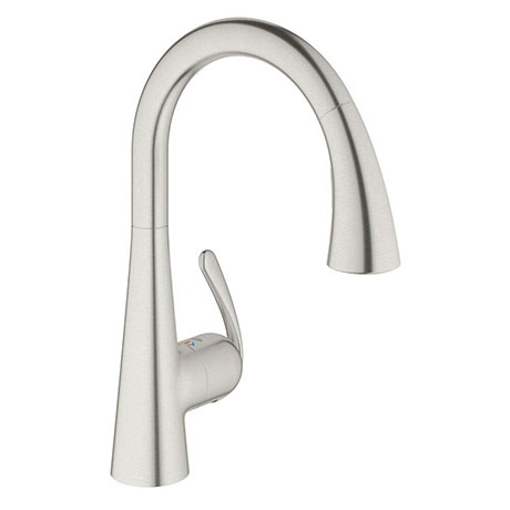 Grohe Zedra Kitchen Sink Mixer with Pull Out Spray - Stainless Steel - 32294SD1
